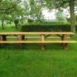 U kunt bij Onder den Peerenboom vergaderen aan de picknicktafel